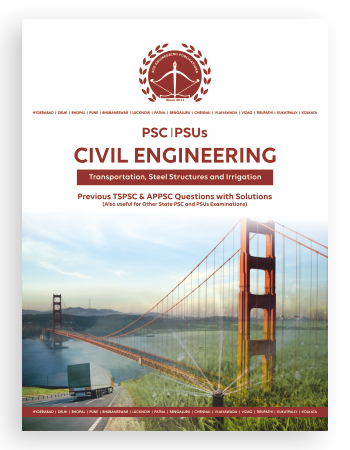 TSPSC & APPSC Previous questions with solutions for AEE-Civil Engineering