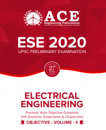 ESE-2020 UPSC Preliminary Examination questions with solutions Volume-2 for Electrical Engineering