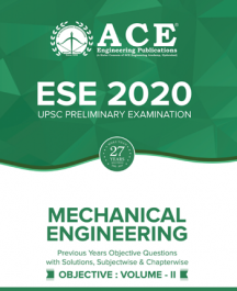 ESE-2020 UPSC Preliminary Examination questions with solutions Volume-1 for Mechanical Engineering
