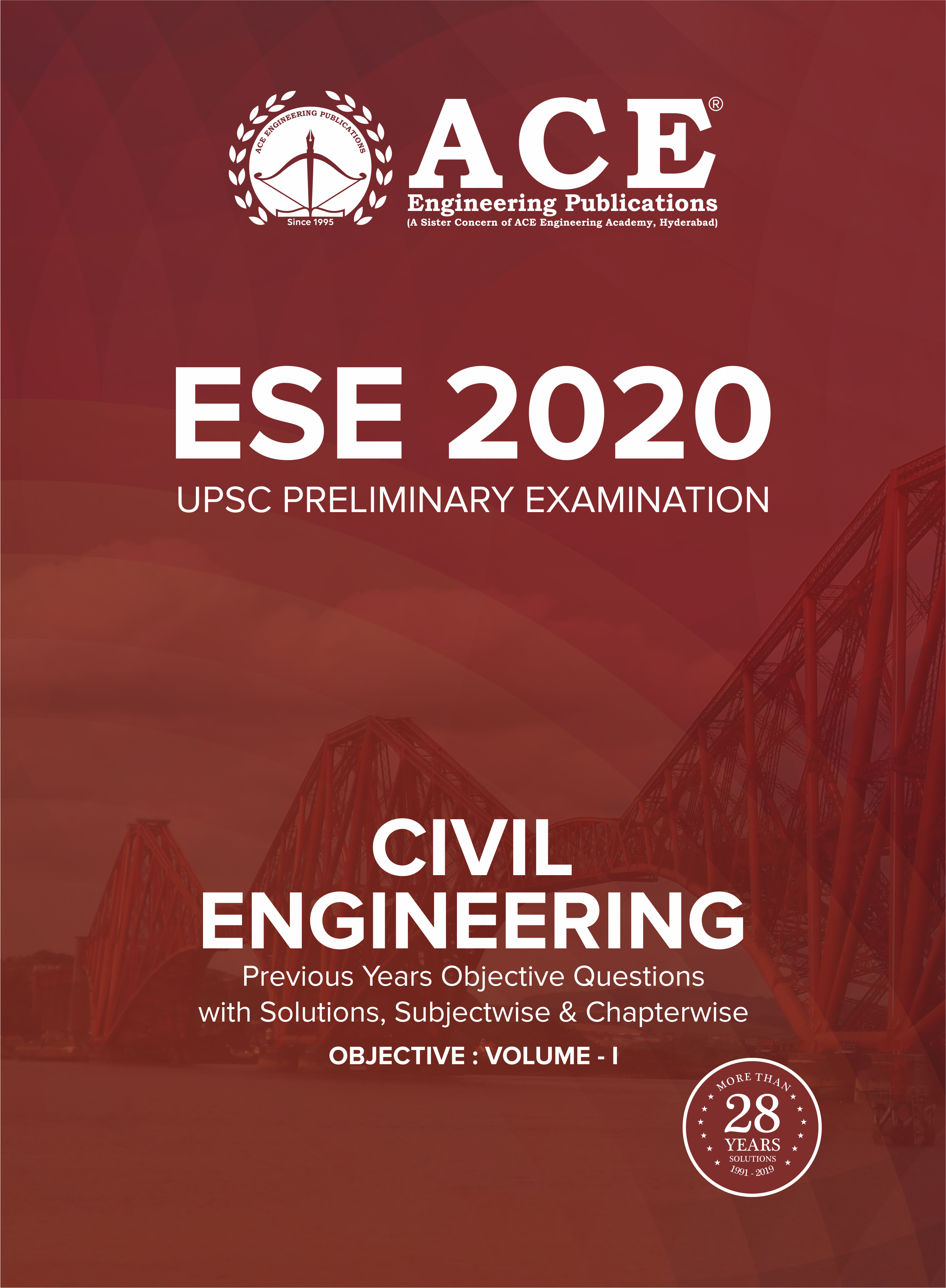 ESE-2020 UPSC Preliminary Examination questions with solutions Volume-1 for Civil Engineering